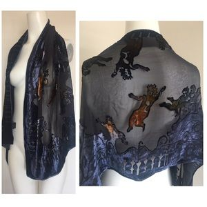 Kevin O'Brien Gorgeous Velvet Burnout Angel Scarf